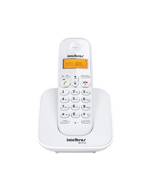 TELEFONE S/FIO INTELBRAS TS3110 BRANCO  - TELLNET