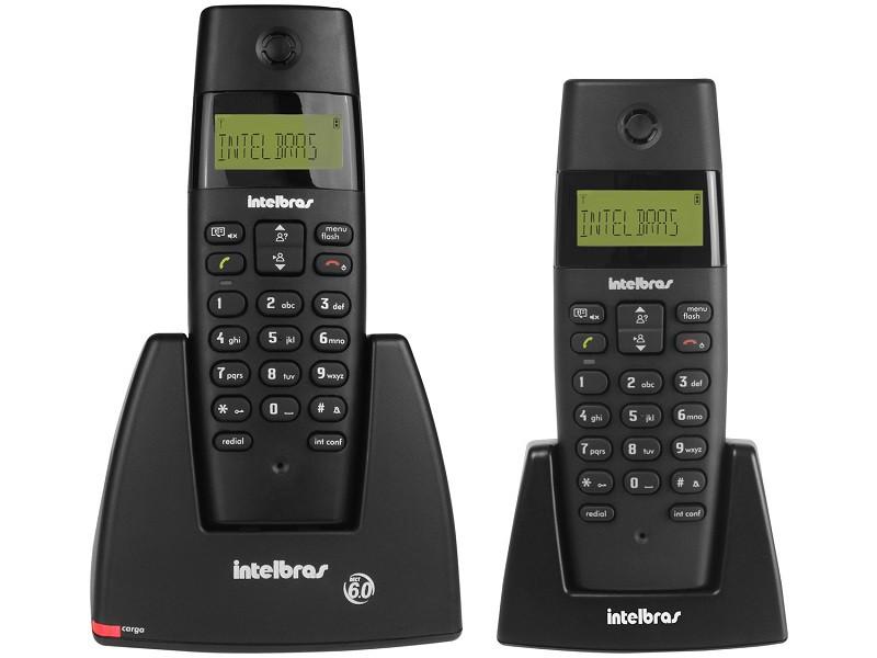 TELEFONE S/FIO + RAMAL INTELBRAS TS40C PRETO  - TELLNET