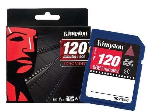 Cartao de Memoria SDHC 8GB Kingston Originl Video 120 MIN HD