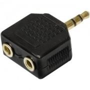 Adaptador 2 P2 Stereo X P2 Stereo GOLD Generico