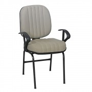 Cadeira Premium ALTA Martimaq Base Fixa Bege