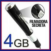 Caneta Espia Filmadora 4GB Audio e Video Resolucao 640X480