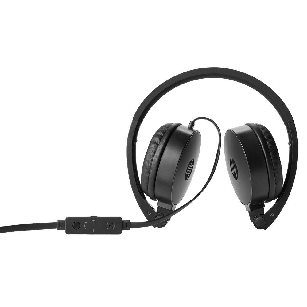 Fone de Ouvido HP H2800 Dobravel com Microfone Preto