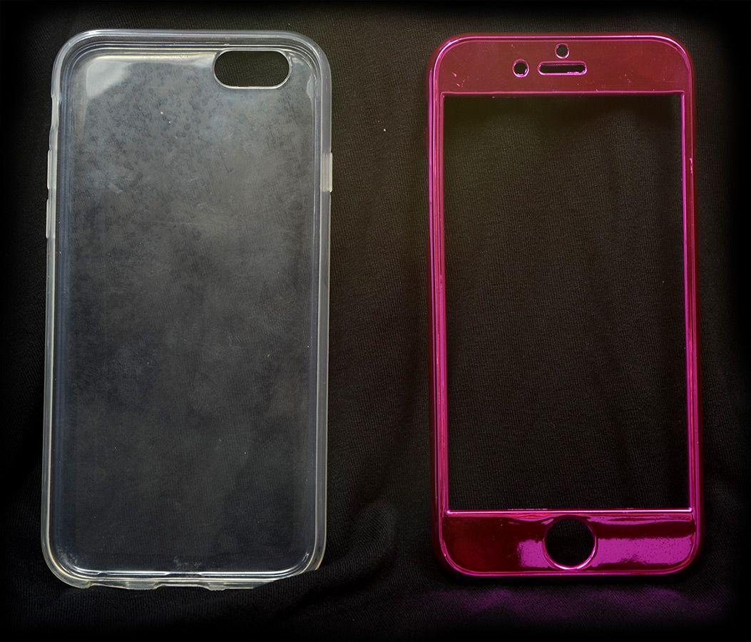 10 Capas Rosa Pink Iphone 6 6S Super Proteção Linda Botão Relevo Atacado