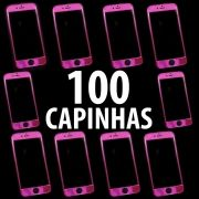 100 Capas Rosa Pink Iphone 6 6S Super Proteção Linda Botão Relevo Atacado