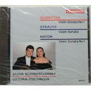 CD Haydn / Strauss / Schnittke Violin Sonatas - Lacrado - Importado