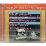 Cd Oistrakh - Shostakovich & Tchaikovsky Violin Concertos - Lacrado - Importado