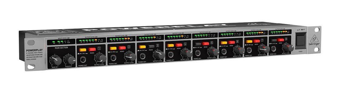 Amplificador p/ Fone de Ouvido Behringer Powerplay HA8000 V2   8 Canais
