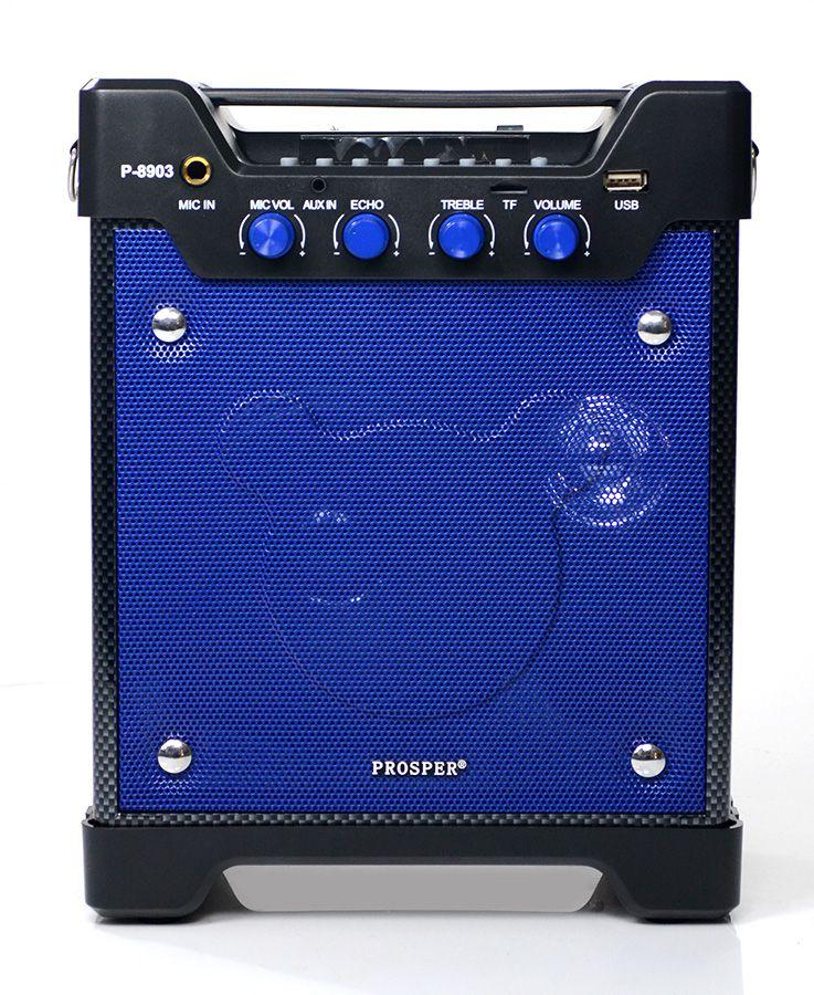 Caixa de Som Prosper P-8903 Bluetooth USB Auxiliar - Azul