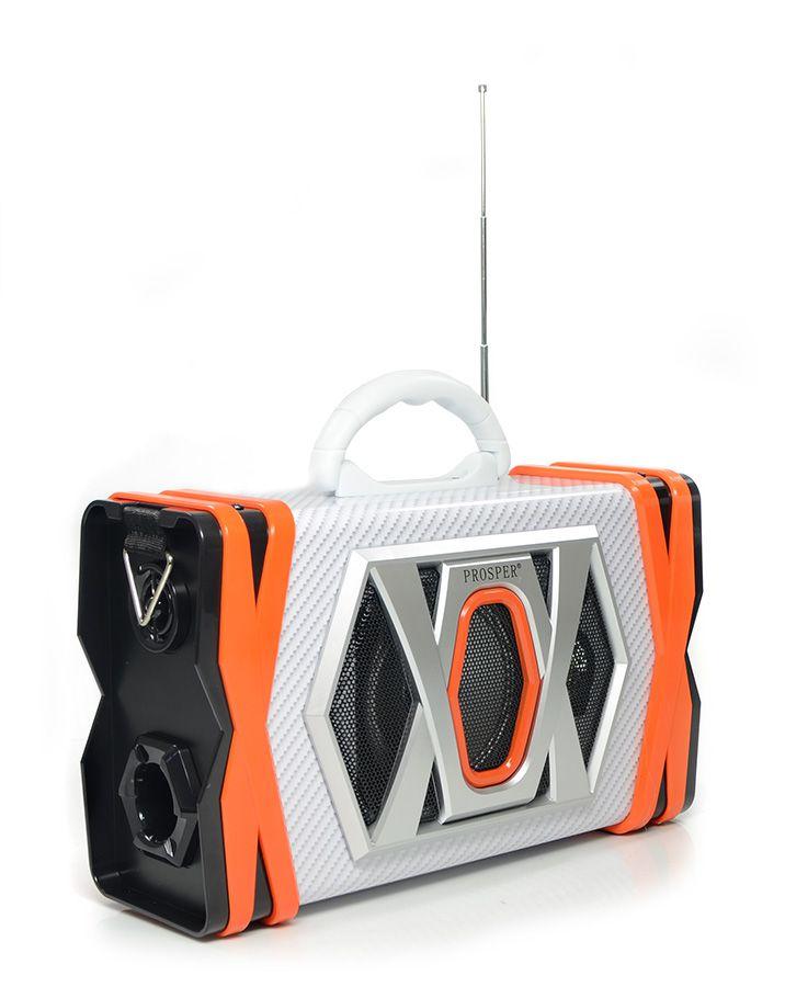 Caixa de Som Prosper P-8939 Bluetooth Microfone USB CartãoTF - Laranja