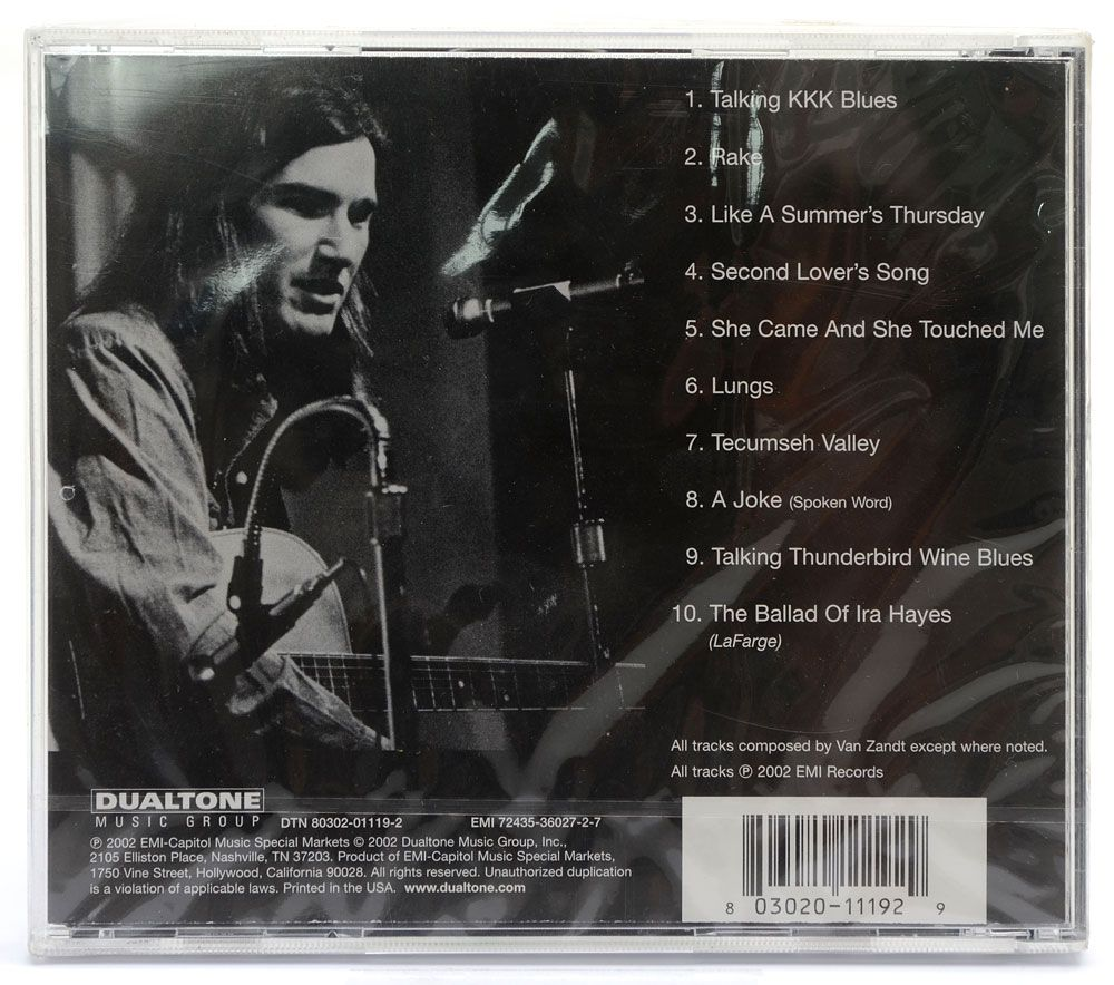 CD A Gentle Evening With Townes Van Zandt - Importado - Lacrado
