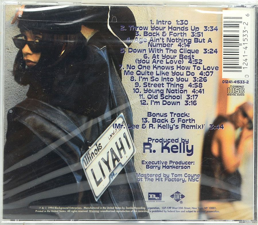Cd Aaliyah - Age Aint Nothing But A Number - Lacrado - Importado