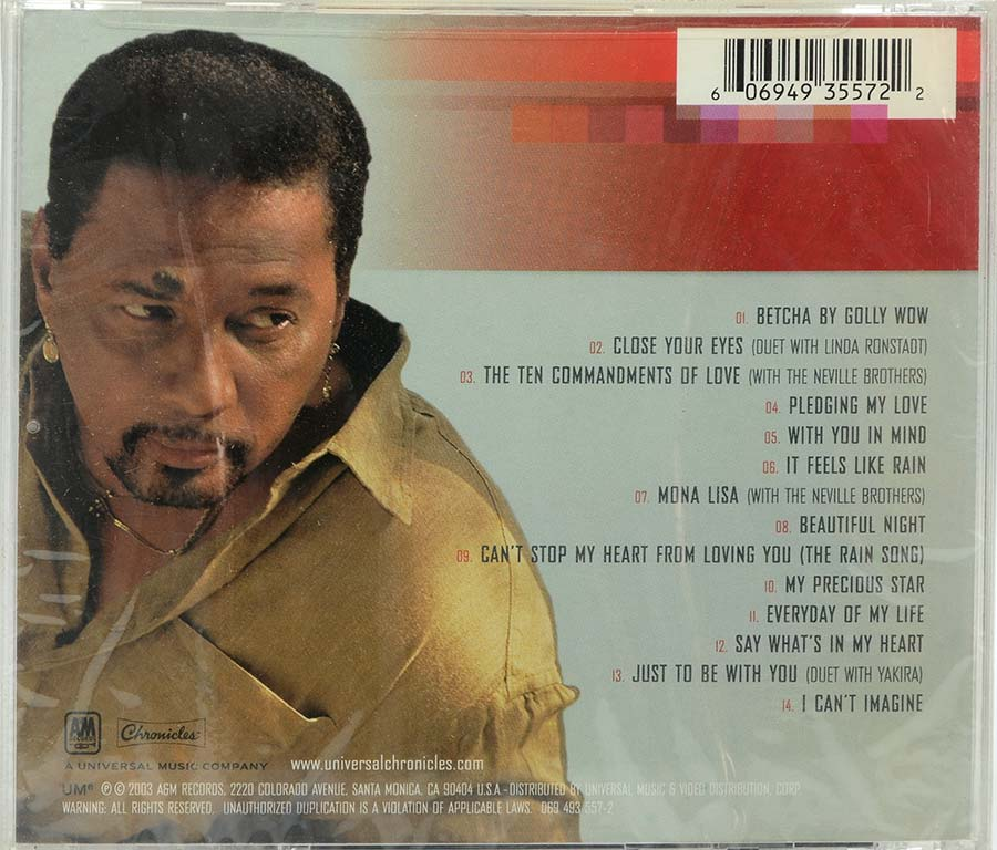 Cd Aaron Neville - Love Songs - Lacrado - Importado