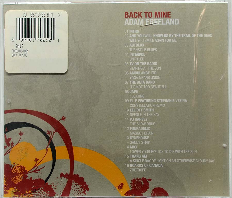 Cd Adam Freeland - Back To Mine - Lacrado - Importado