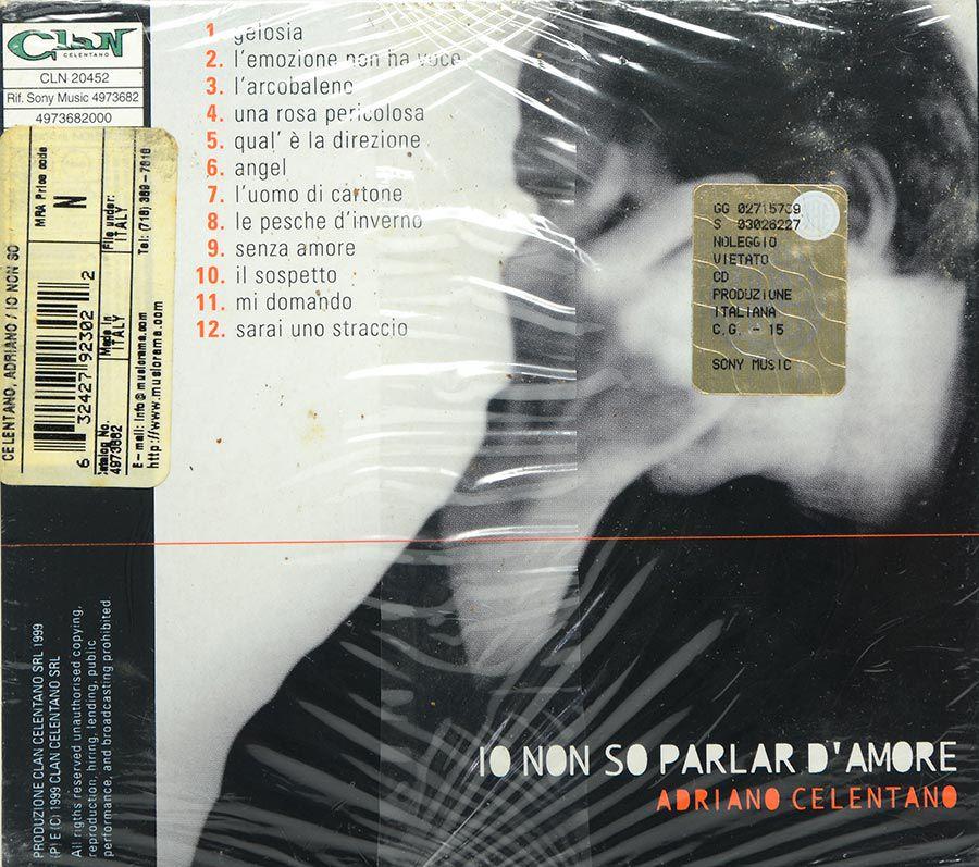 CD Adriano Celentano - Io Non So Parlar D'amore - Lacrado - Importado