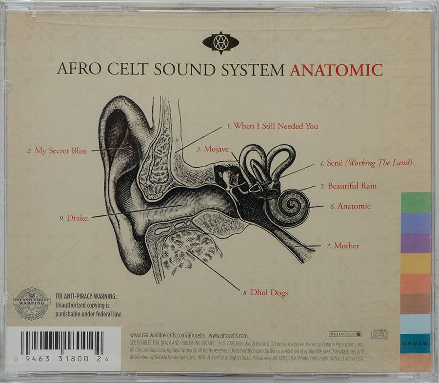 CD Afro Celt Sound System - Anatomic - Lacrado - Importado