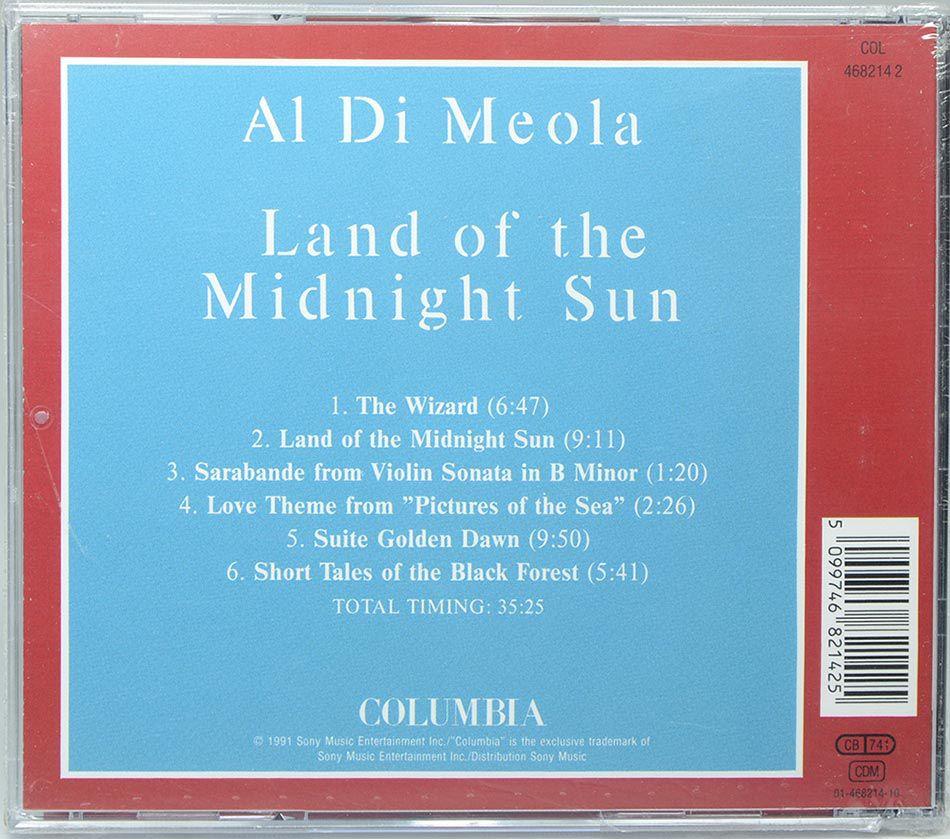 CD Al Di Meola - Land Of The Midnight Sun - Importado - Lacrado