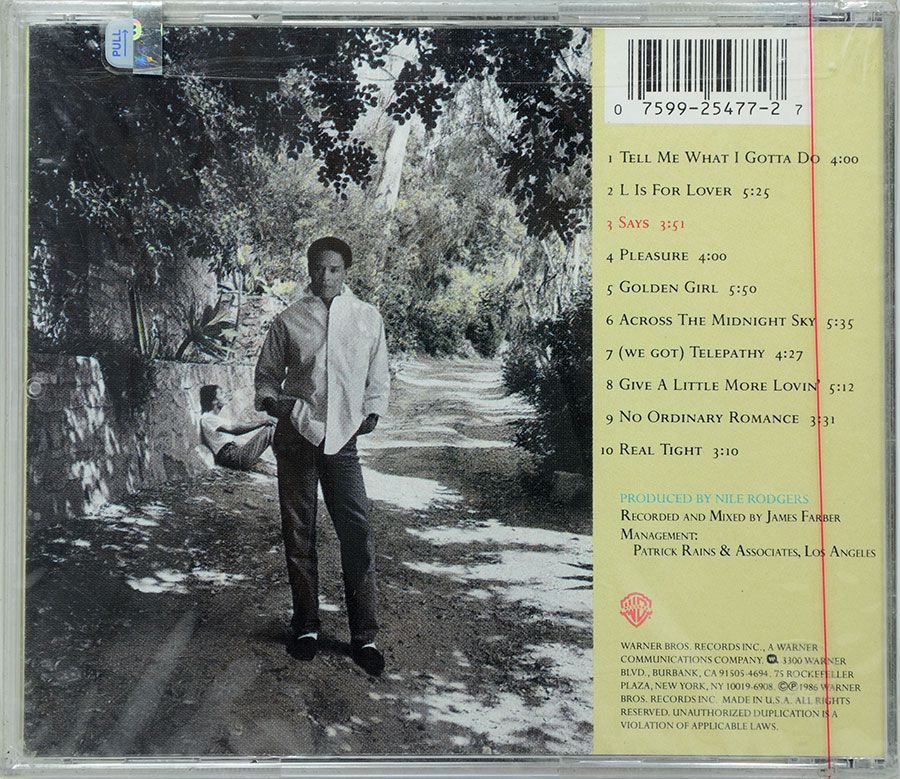 CD Al Jarreau - L Is For Lover - Lacrado - Importado