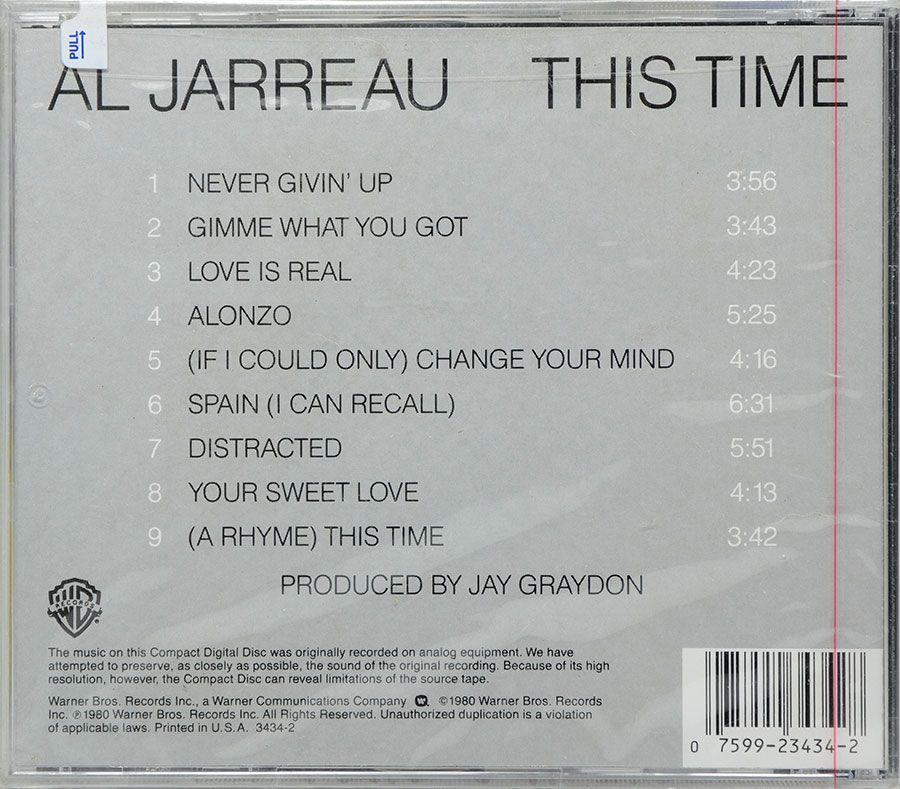 CD Al Jarreau - This Time - Lacrado - Importado