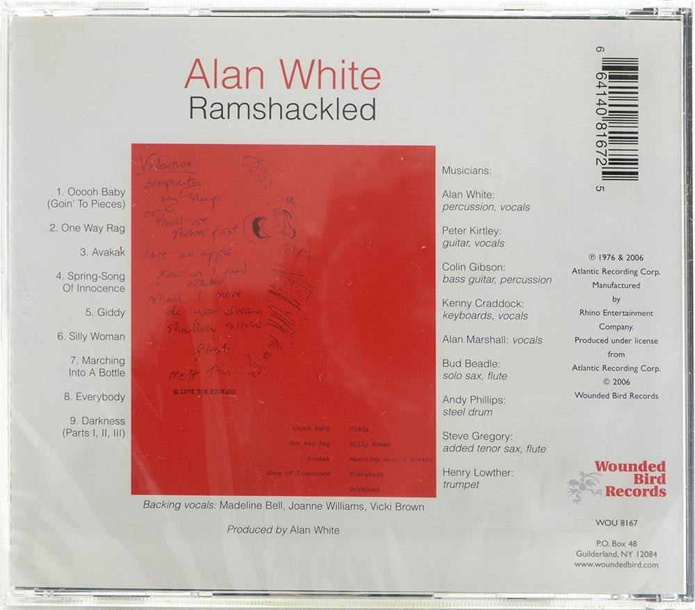 CD Alan White - Ramshackled - Importado - Lacrado