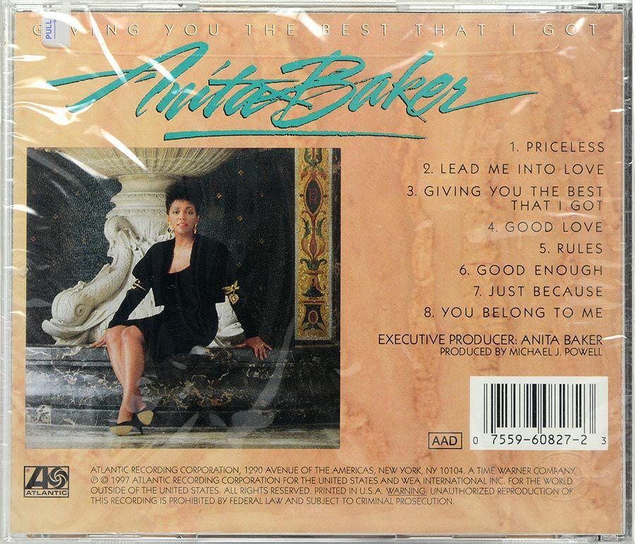 Cd Anita Baker - Giving You The Best That I Got - Lacrado - Importado