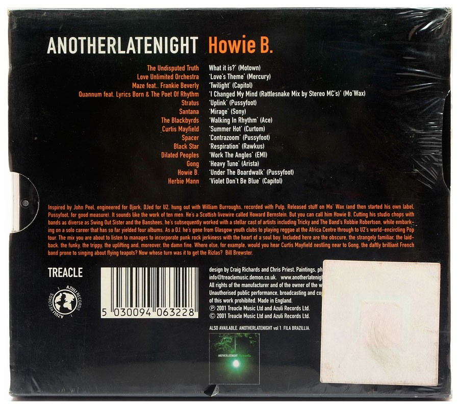 CD Another Late Night - Howie B. - Importado - Lacrado