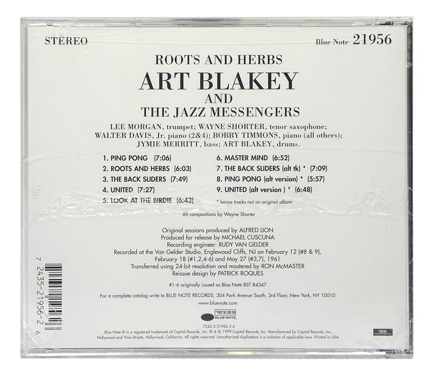 CD Art Blakey and The Jazz Messengers - Roots and Herbs - Importado - Lacrado