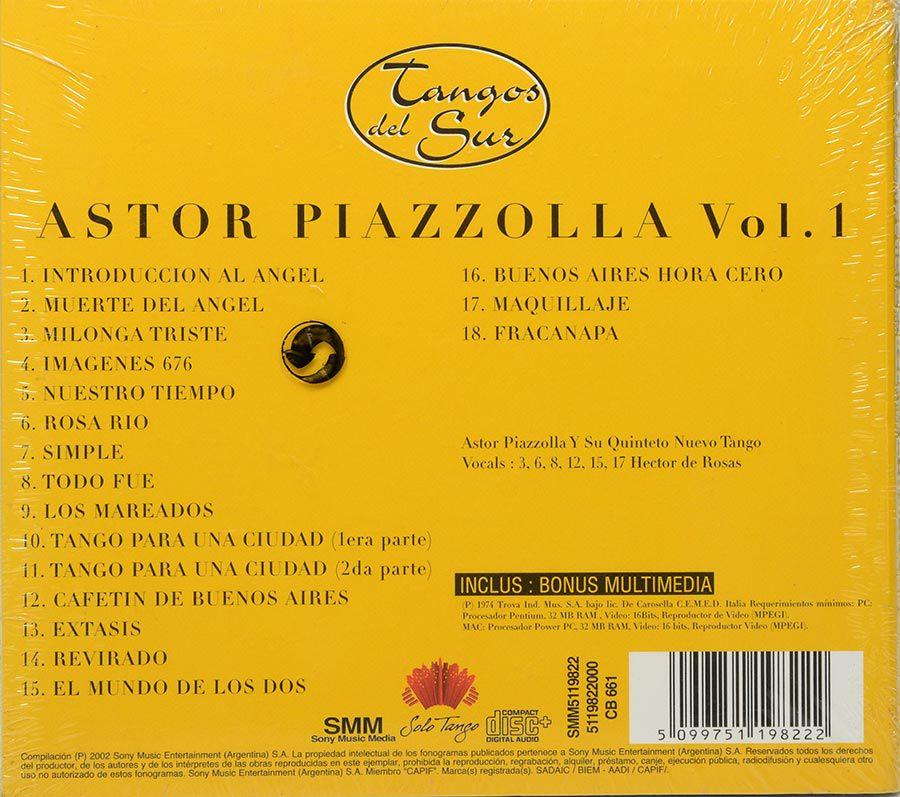 CD Astor Piazzolla - Serie Tangos Del Sur - Vol 1 - Lacrado - Importado