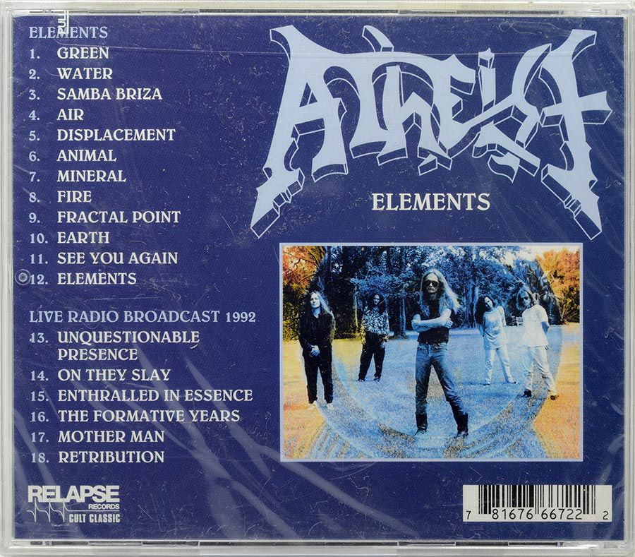 CD Atheist - Elements - Lacrado - Importado