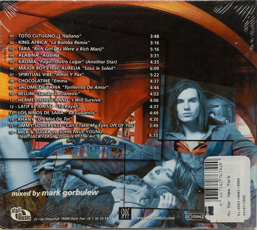 CD Au Bar New York Mixed By Mark Gorbulew - Lacrado - Importado