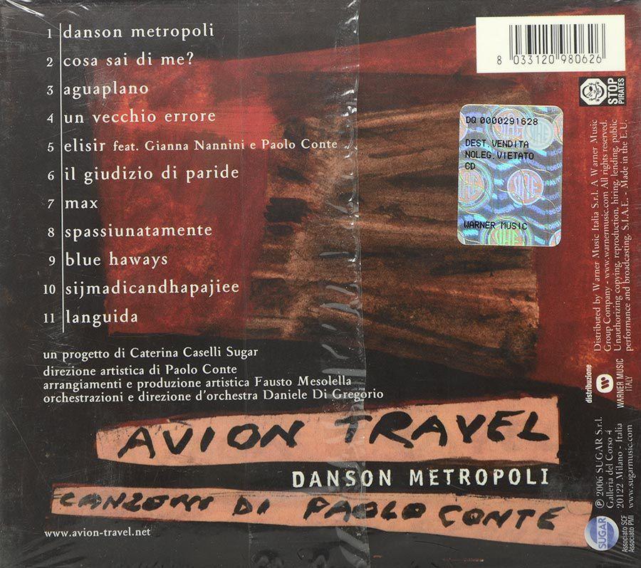 Cd Avion Travel - Danson Metropoli - Canzoni Di Paolo Conte - Lacrado - Importado