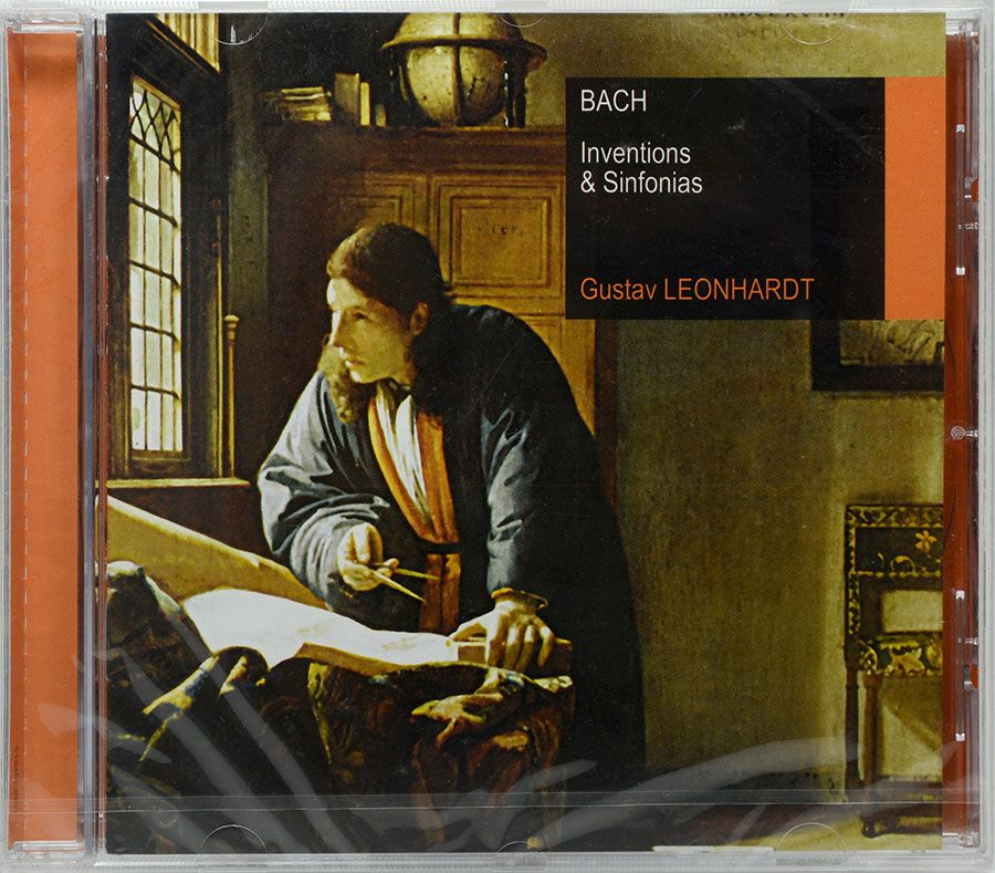 CD Bach: Inventions & Sinfonias Gustav Leonhardt - Lacrado - Importado