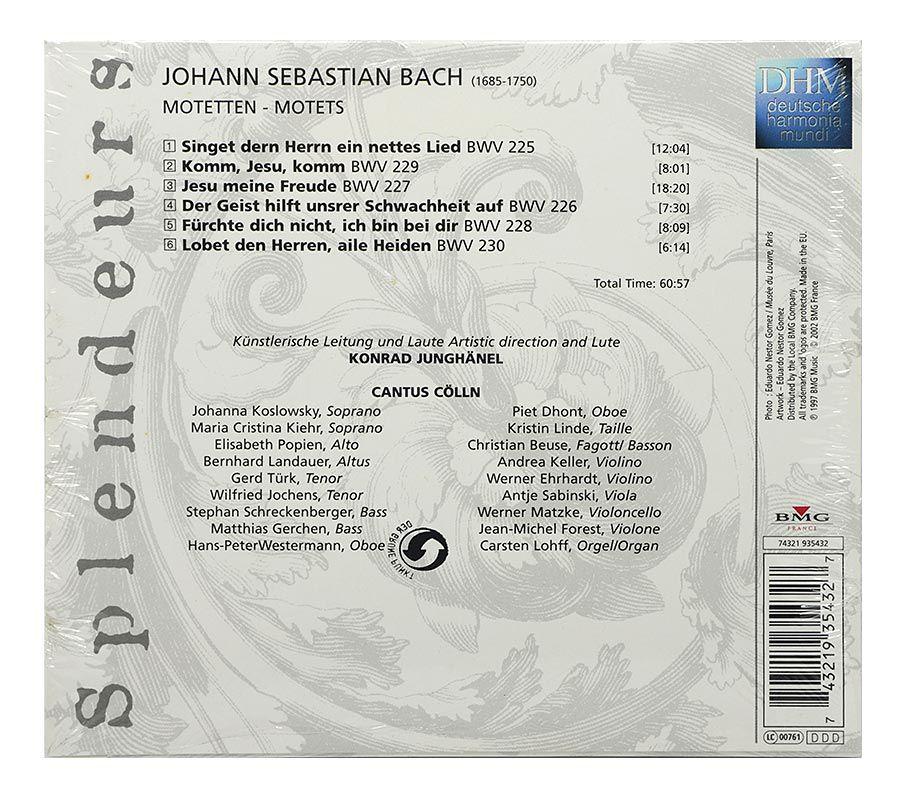 CD Bach: Motets - Cantus Cölln - Importado - Lacrado