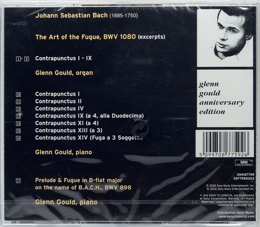 CD Bach: The Art Of The Fugue - Glenn Gould - Lacrado - Importado