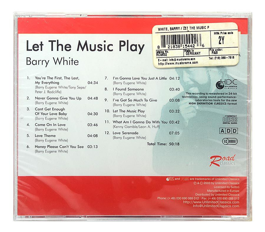 CD Barry White - Let The Music Play - Importado - Lacrado