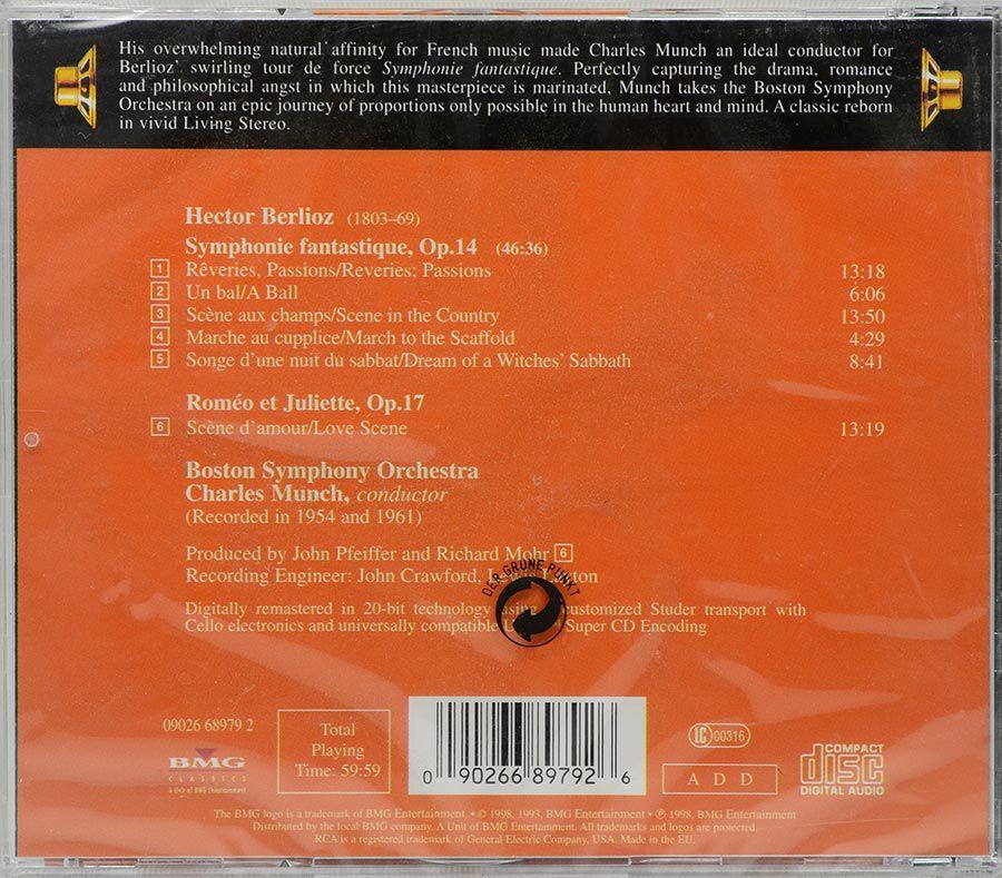 CD Berlioz Symphonie Fantastique Charles Munch Boston Symphony Orchestra - Lacrado - Importado