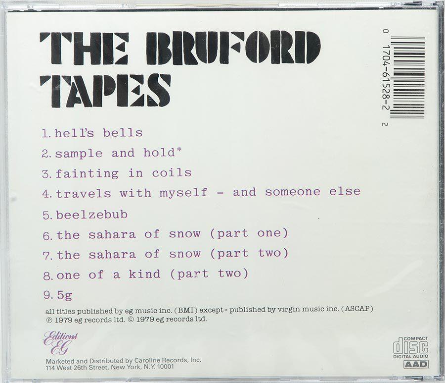 Cd Bill Bruford - The Bruford Tapes - Lacrado - Importado