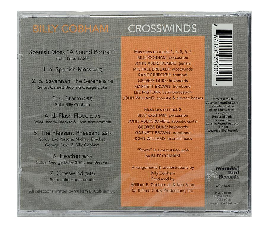 Cd Billy Cobham - Crosswinds - Importado - Lacrado