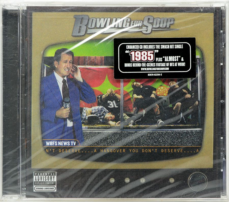 CD Bowling For Soup - A Hangover You Don't Deserve - Lacrado - Importado
