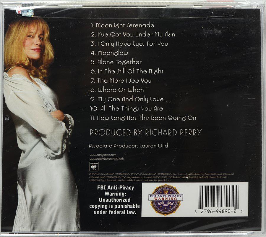 CD Carly Simon - Moonlight Serenade - Lacrado - Importado