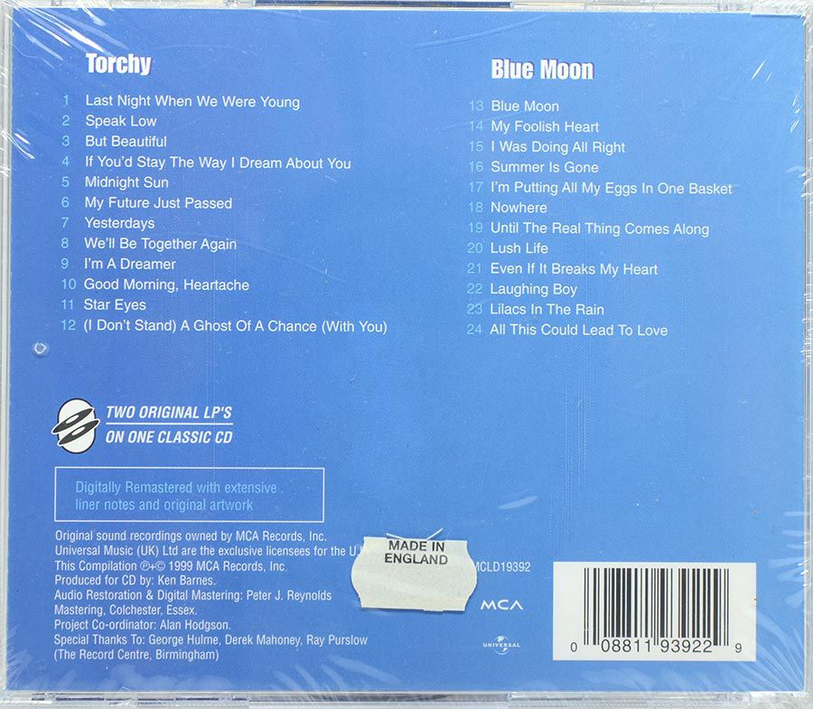 CD Carmen McRae - Torchy & Blue Moon - Lacrado - Importado