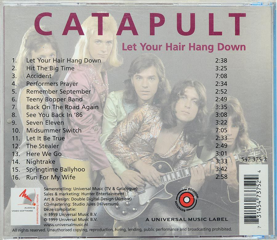 Cd Catapult - Let Your Hair Hang Down - Live - Importado