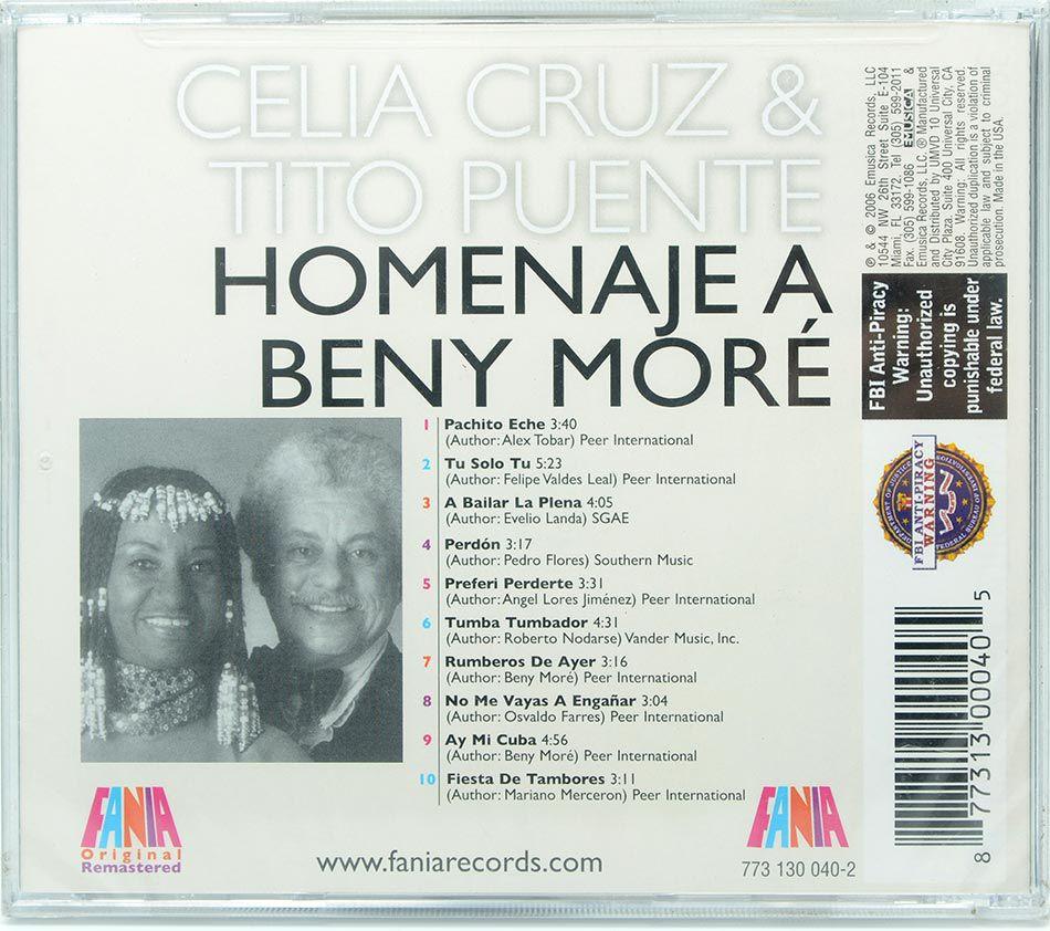 CD Celia Cruz & Tito Puente - Homenaje A Beny Moré - Lacrado - Importado