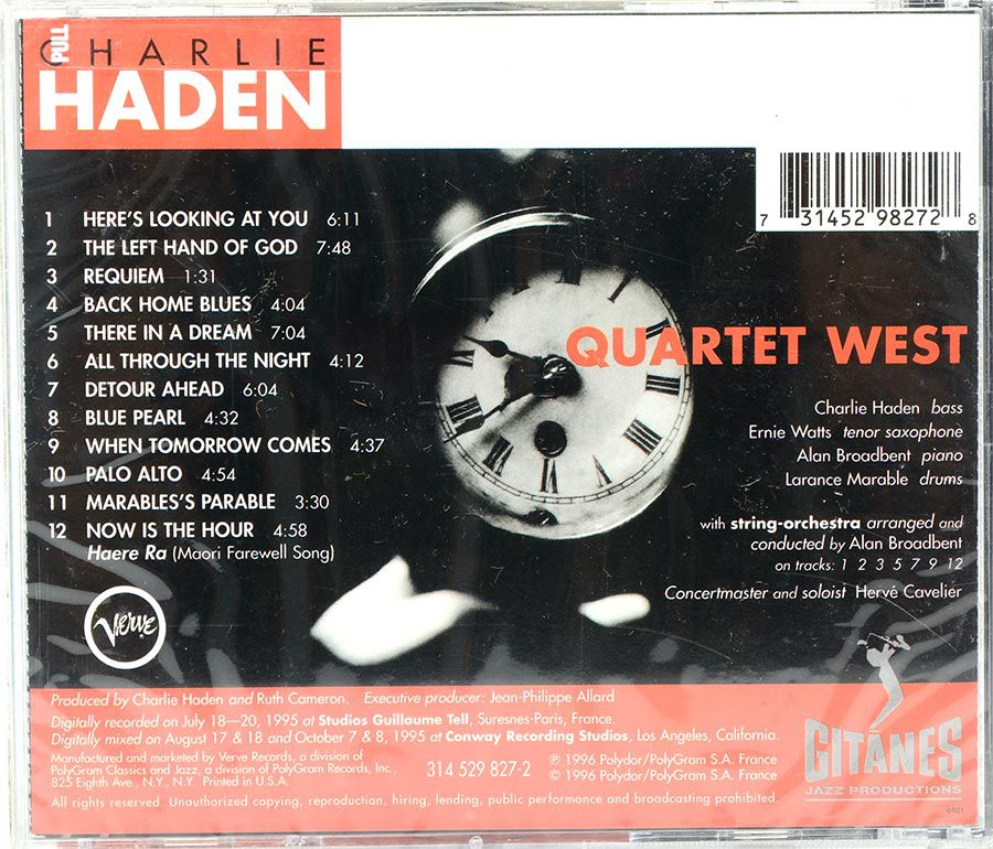 Cd Charlie Haden - Quartet West - Now Is The Hour - Lacrado - Importado