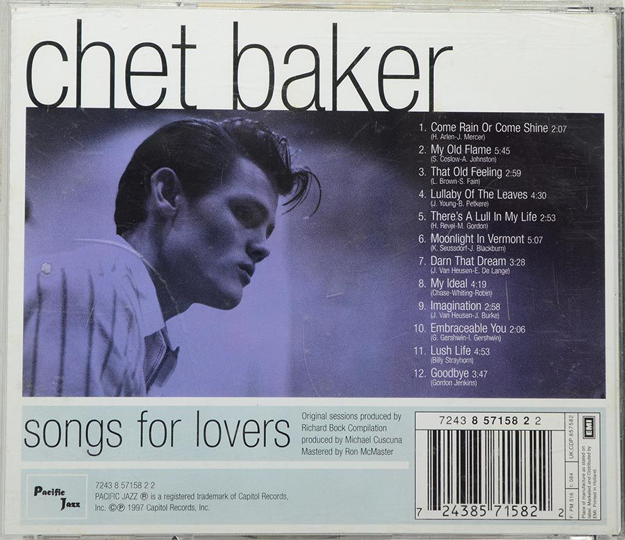 CD Chet Baker - Songs For Lovers - Importado