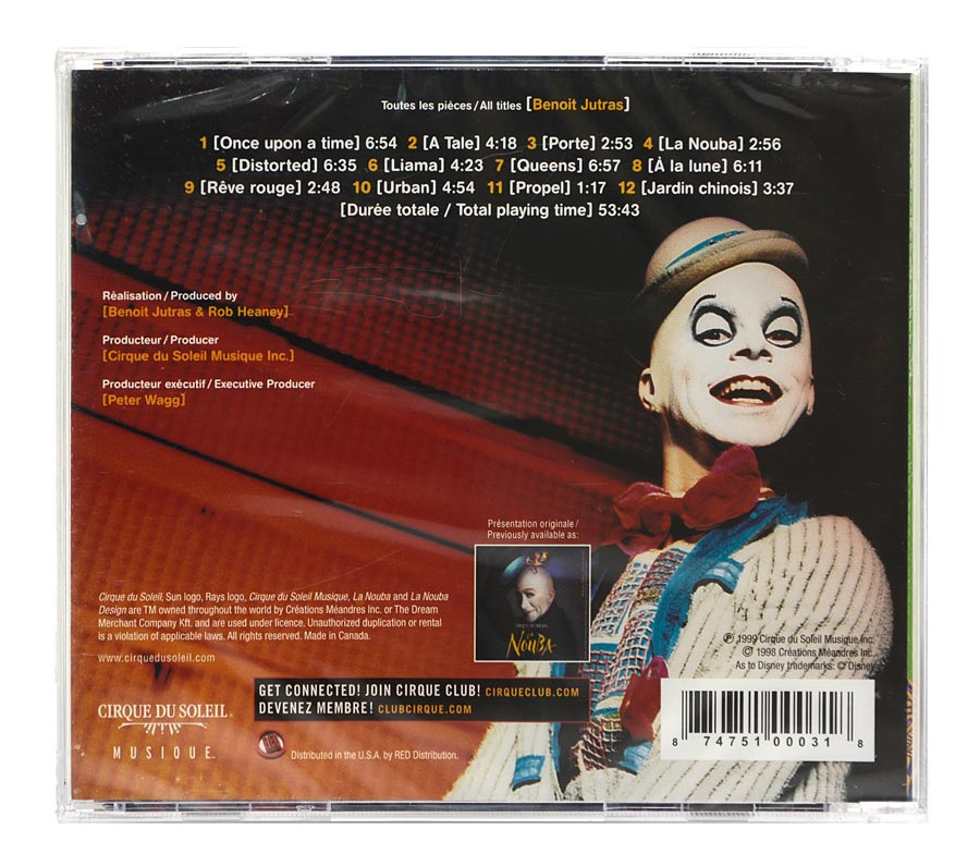 CD Cirque Du Soleil - La Nouba - Importado - Lacrado