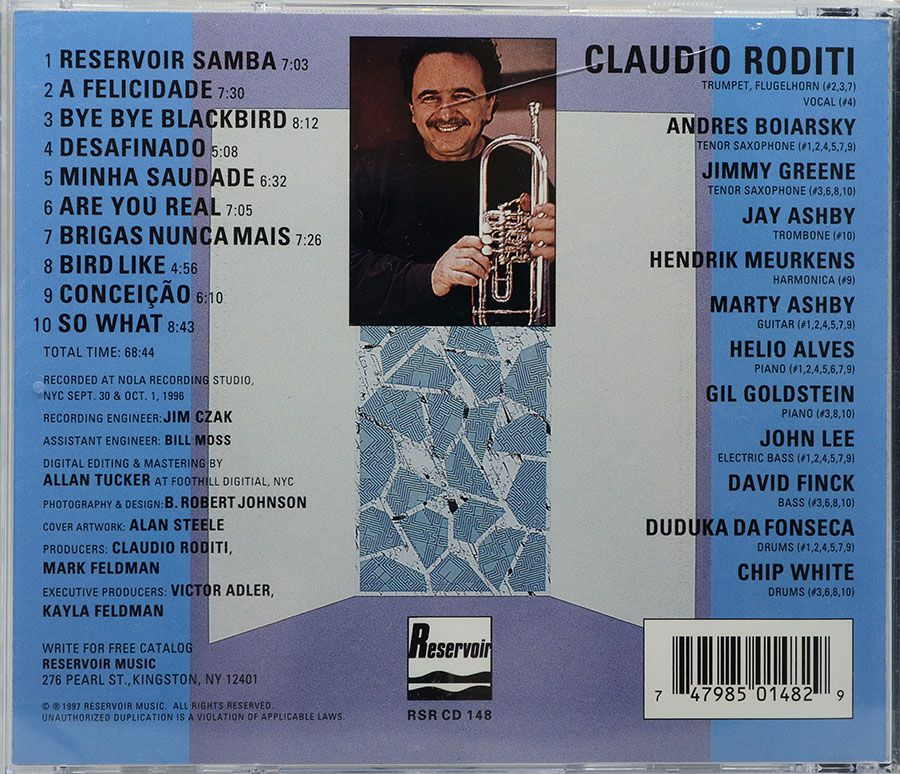 Cd Claudio Roditi - Double Standards - Lacrado - Importado