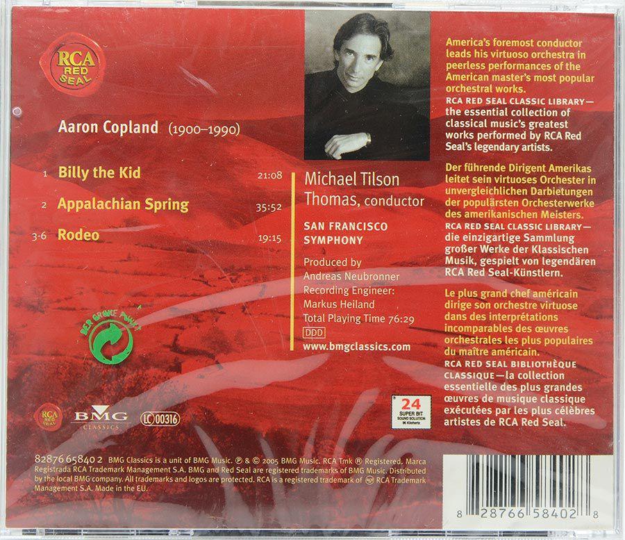 Cd Copland - Appalachian Spring - Billy The Kid - Rodeo - Importado