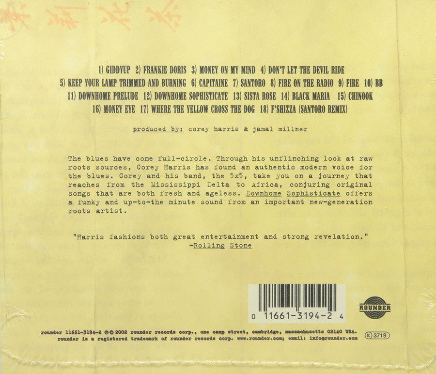 Cd Corey Harris - Downhome Sophisticate - Lacrado - Importado