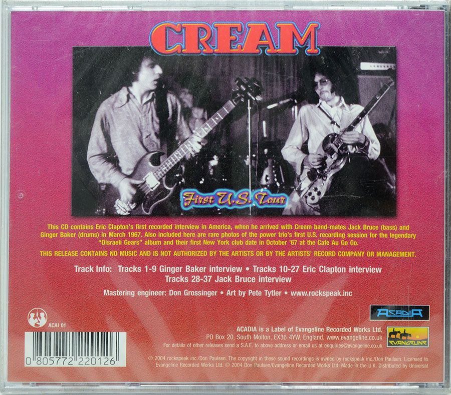 CD Cream - First U.S Tour - Lacrado - Importado